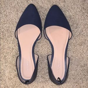 Women's Navy Blue Pointed Flats size 6